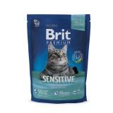 Brit Premium Cat Sensitive (300 г) сухой корм с  ягненком и рисом для взрослых кошек всех пород с чувствительным пищеварением