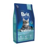 Brit Premium Cat Sensitive (1,5 kг) сухой корм с  ягненком и рисом для взрослых кошек всех пород с чувствительным пищеварением