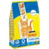 Friskies Сухой корм стерилизованных кошек Лосось Овощи 10кг