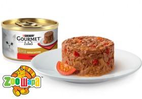 """Gourmet Gold З яловичиною та томатами. """"Ніжні биточки"""" 85г"""