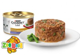 """Gourmet Gold З ягням та зеленими бобами. """"Ніжні биточки"""". Конс/кот 12х85г"""
