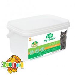 MY FAMILY Adult Cat Сухой корм с Курицей для котов 2кг