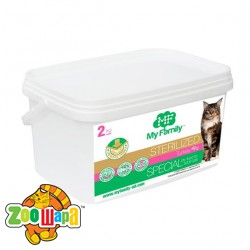 MY FAMILY Sterilized Сухой корм с Индейкой для стерилизованных котов 2кг