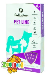 Palladium Pet Line №1 Капли на холку для собак 4-10 кг (имидаклоприд+перметрин)