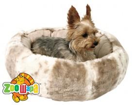 Trixie Лежак для собак Leika (d=50 см) бежевый с белым