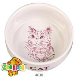 Trixie миска (керамика) для кота, 300 мл Ø11 см, с рисунком