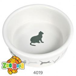 Trixie миска (керамика) для кота, 250мл Ø11 см, с рисунком