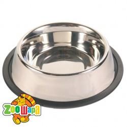 Trixie миска для собак (металл) на резине 900 мл Ø 17 см