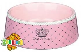 "Trixie Миска ""Dog Princess"" керамич. розовая 0,18л/12см"