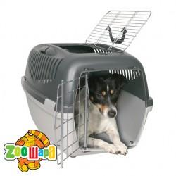 Trixie Переноска для собак Capri 3 Open Top (размер 40×38×61 см, до 12 кг) темно-серый / светло-серый