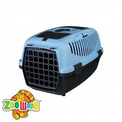Trixie Переноска для собак Capri 2 (размер XS-S: 37х34х55 см, до 8 кг) темно-серый / голубой