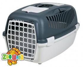 Trixie Переноска для собак Capri 3 (размер S: 40×38×61 см, до 12 кг) серый / светло-серый