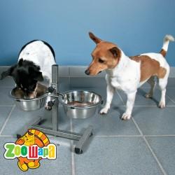 Trixie стояк для собак + 2 миски (металл)  0,75 л Ø  15 см
