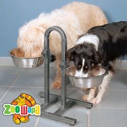 Trixie стояк для собак + 2миски (металл) 2,8 л Ø 24 см
