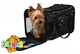 Trixie сумка-переноска для собак (нейлон) 42х27х26 cм, чёрная