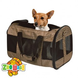 "Trixie сумка - переноска  для собак ""Elegance""( нейлон ) 38х24х26 см, бронза"