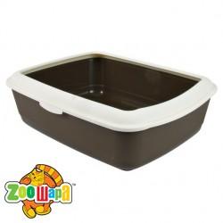 Trixie туалет с рамкой для кошки (коричнево-кремовый) 47х37х15 см