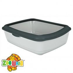 Trixie туалет с рамкой для кошек (серебр.) 47х37х15 см