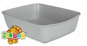 Trixie туалет для кота серебр (пластик) 36 × 12 × 46 см