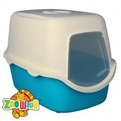 """Trixie туалет-домик для котов """"Vico"""" 40х40х56 см, крем/синий"""