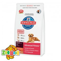 Hill's Сухой корм для собак крупных и гигантских пород Science Plan Adult Advanced Fitness Large Breed (12 кг) ягненок и рис