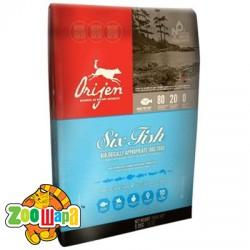 Orijen Сухой корм для собак всех возрастов SIX FISH Dog (11,4 кг)