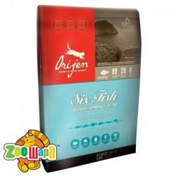 Orijen Сухой корм для кошек SIX FISH (5,4 кг) с рыбой