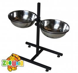 Мистер ГаФФ подставка с мисками для кормления собак 3 л