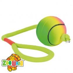Trixie  мяч на канате (резина) неон,6 см/30 см