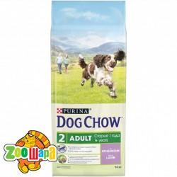 Dog Chow сухой корм для взрослых собак с ягненком Adult  14 кг