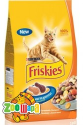 Friskies Сухой корм для взрослых кошек Курица и Овощи 10 кг