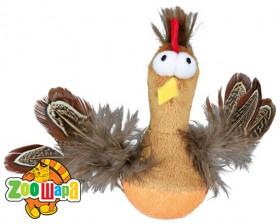 Trixie Курица с перьями (плюш) 10 см