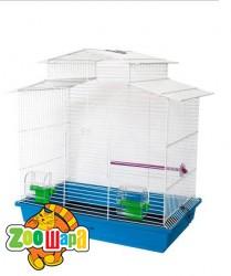 Їжачок! Клетка №9 для средних попугаев, с крышей,51*30*58