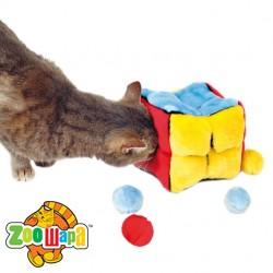 Trixie Плюшевый куб + 4 мяча 14 см
