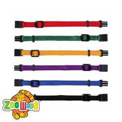 Trixie Набор ошейников для щенков (размер S-M: 17-25 см / 10 мм; 6 штук: красный, зеленый, желтый, фиолетовый, синий, черный)