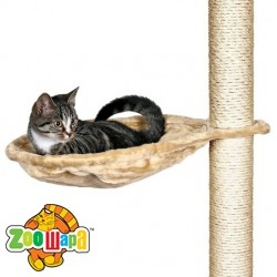 Trixie гамак для драпака для кошек на металическом кольце 45 см бежевый