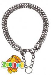 Trixie Ошейник-цепь рывковый двухрядный хромированный (размер: 50 см / 2,5 мм)