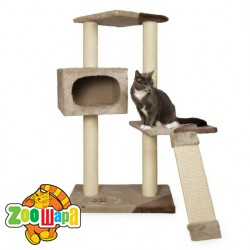 "Trixie домик  для кошек ""Almeria"" беж/корич.106 см"