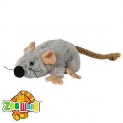 Trixie Мышка с мятой (плюш) серый, 7 см