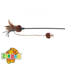 Trixie Удочка с бабочкой на резинке (перья) 54 см