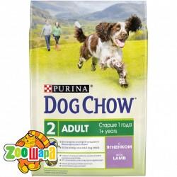 Dog Chow сухой корм для взрослых собак с ягненком 2,5 кг