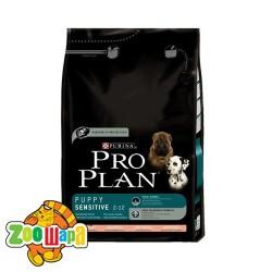 Pro Plan (Проплан) Puppy Sensitive c лососем, корм для щенков склонных к аллергии 12 кг