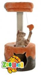 """Trixie домик для кота """"Nuria"""" 71 см, серый/оранж"""