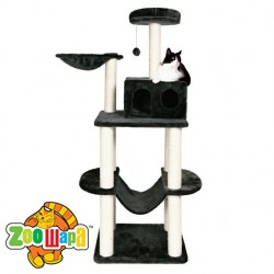 "Trixie домик для кошек ""Tarragona"" 162 см, антрацит"