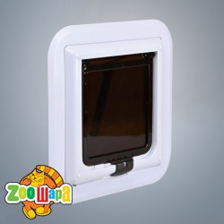 Trixie дверца для кота д/стекла, 30.7х30.7см, белый