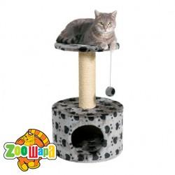 """Trixie домик для кошки """"Toledo """"61 см серый.в лапах"""