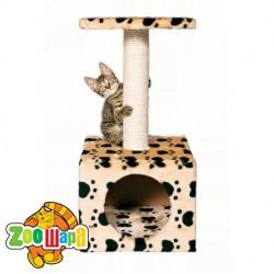 """Trixie домик для кошки """"Zamora"""" (беж.в лапах) 61 см"""