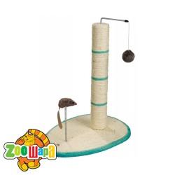 Trixie дряпка-столбик для кошек Scratch Me (50 см) с мышкой и мячиком