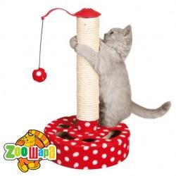 Trixie драпак-игрушка д/кота,27х45см,красный/белый