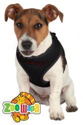 Trixie Шлея-жилетка с поводком для щенков и мелких собак (26-34 см / 10 мм, 2 м) черная